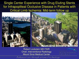 Robert Lookstein MD FSIR Chief, Interventional Radiology  Mount Sinai Medical Center
