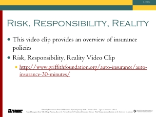 Risk, Responsibility, Reality