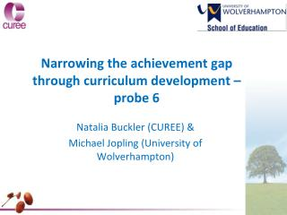 Narrowing the achievement gap through curriculum development –  probe 6