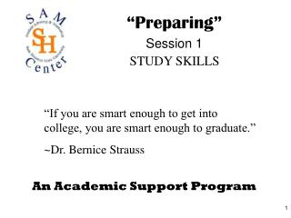 An Academic Support Program