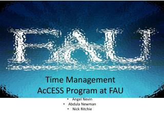 Time  Management AcCESS Program at FAU