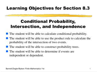 Learning Objectives for Section 8.3