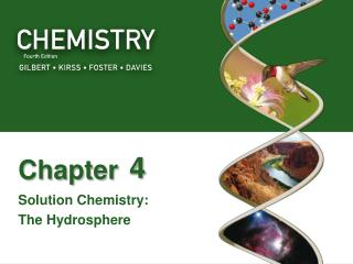 Solution Chemistry:  The Hydrosphere