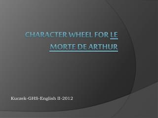 Character Wheel for  Le  Morte  De Arthur