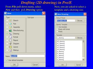 Drafting (2D drawing) in Pro/E