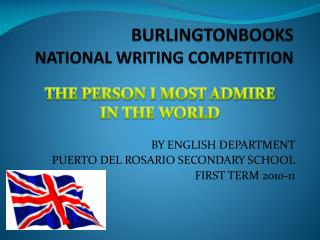 BURLINGTONBOOKS  NATIONAL WRITING COMPETITION
