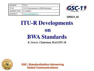 ITU-R Developments   on  BWA Standards