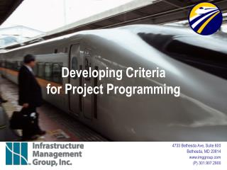 Developing Criteria  for Project Programming