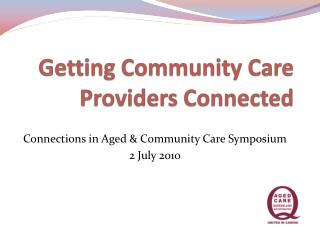 Getting Community Care Providers Connected