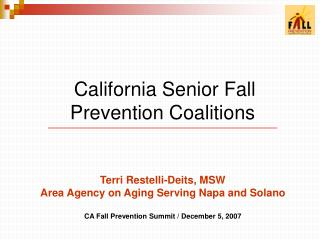 California Senior Fall  Prevention Coalitions