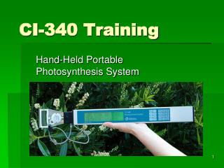 CI-340 Training
