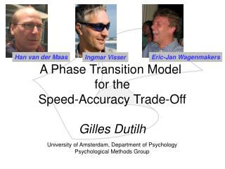 A Phase Transition Model  for the Speed-Accuracy Trade-Off
