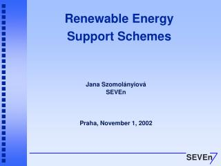 Renewable Energy Support Schemes