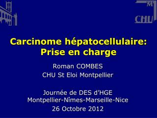 Carcinome hépatocellulaire: Prise en charge