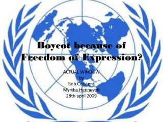 Boycot because of Freedom of Expression?
