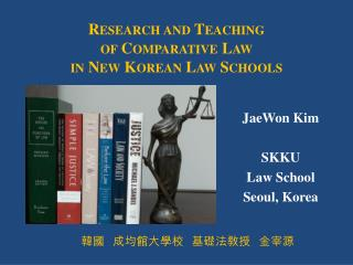 JaeWon Kim SKKU Law School Seoul, Korea