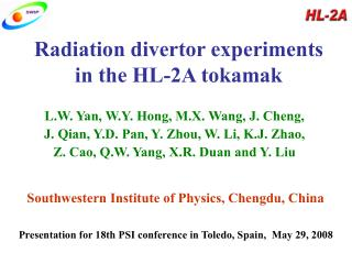 Radiation divertor experiments in the HL-2A tokamak