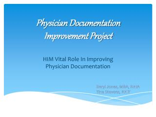 Physician Documentation Improvement Project