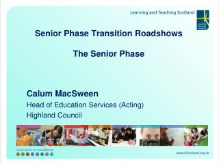 Senior Phase Transition Roadshows  The Senior Phase