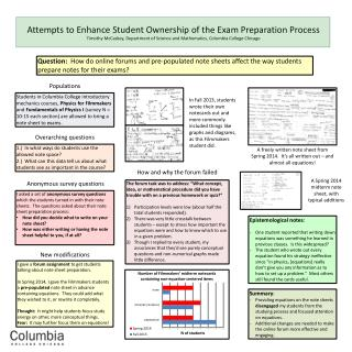 Attempts to Enhance Student Ownership of the Exam Preparation Process