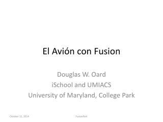El  Avión  con Fusion