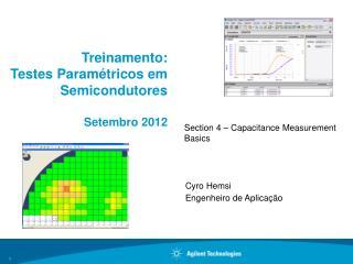Treinamento : Testes  Param�tricos em Semicondutores Setembro  2012