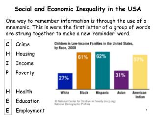 Social and Economic Inequality in the USA