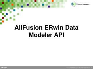 AllFusion ERwin Data Modeler API