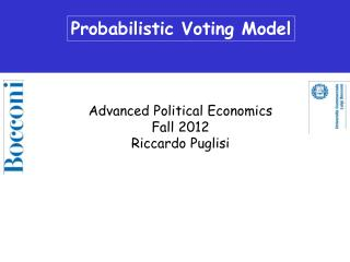 Probabilistic Voting Model