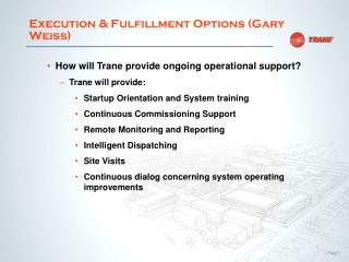Execution & Fulfillment Options (Gary Weiss)