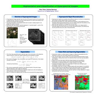 Segmentation and Classification of Hyperspectral Images