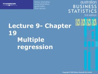 Lecture 9- Chapter 19