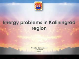 Energy problems in Kaliningrad region