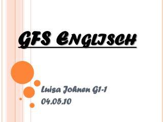 GFS Englisch