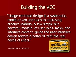 Building the VCC