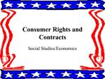 Consumer Rights and Contracts