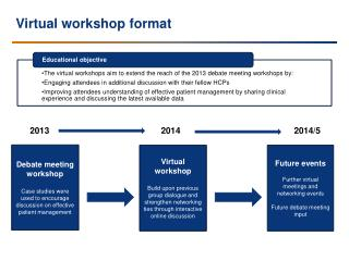 Virtual workshop format