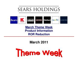 March Theme Week Product Information ROR Reduction