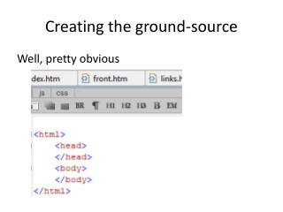 Creating  the  ground -source