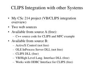 CLIPS Integration with other Systems