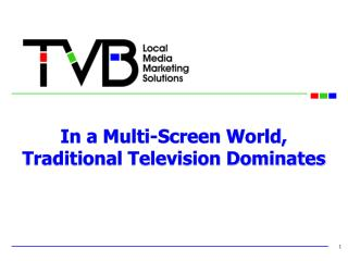 In a Multi-Screen World, Traditional Television Dominates