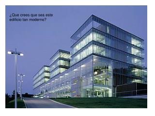 ¿Que crees que sea este edificio tan moderno?