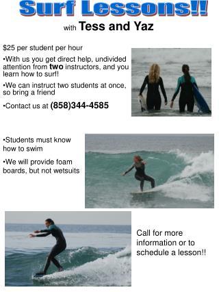 Surf Lessons!!