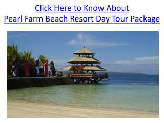 Pearl Farm Beach Resort Day Tour Package