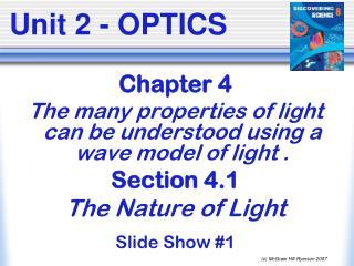 Unit 2 - OPTICS