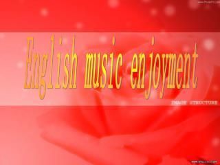 English music enjoyment