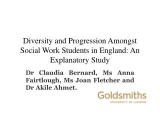 Diversity and Progression Amongst Social Work Students in England: An Explanatory Study