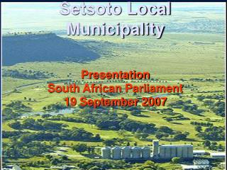 Setsoto Local Municipality