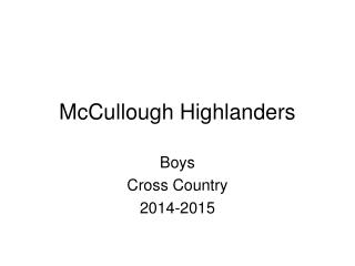 McCullough Highlanders