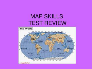 MAP SKILLS  TEST REVIEW